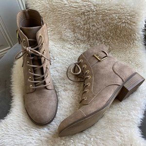 G by Guess Nude Lace-Up Boots
